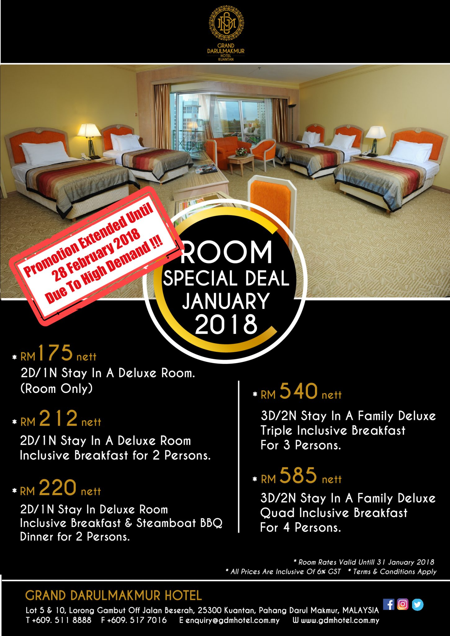 Room Special Deal Promotion Extended