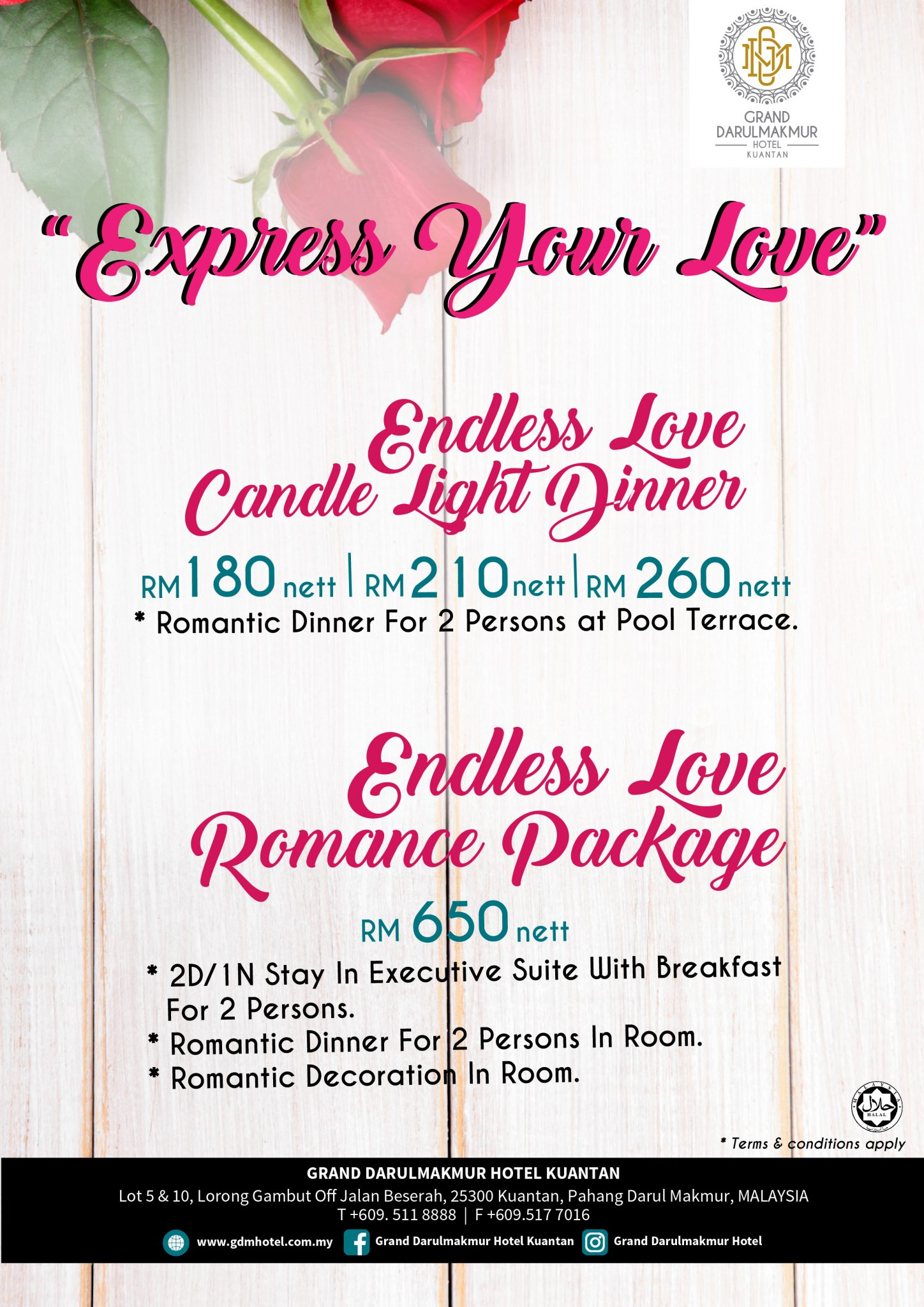 Candle Light Dinner & Romance Package